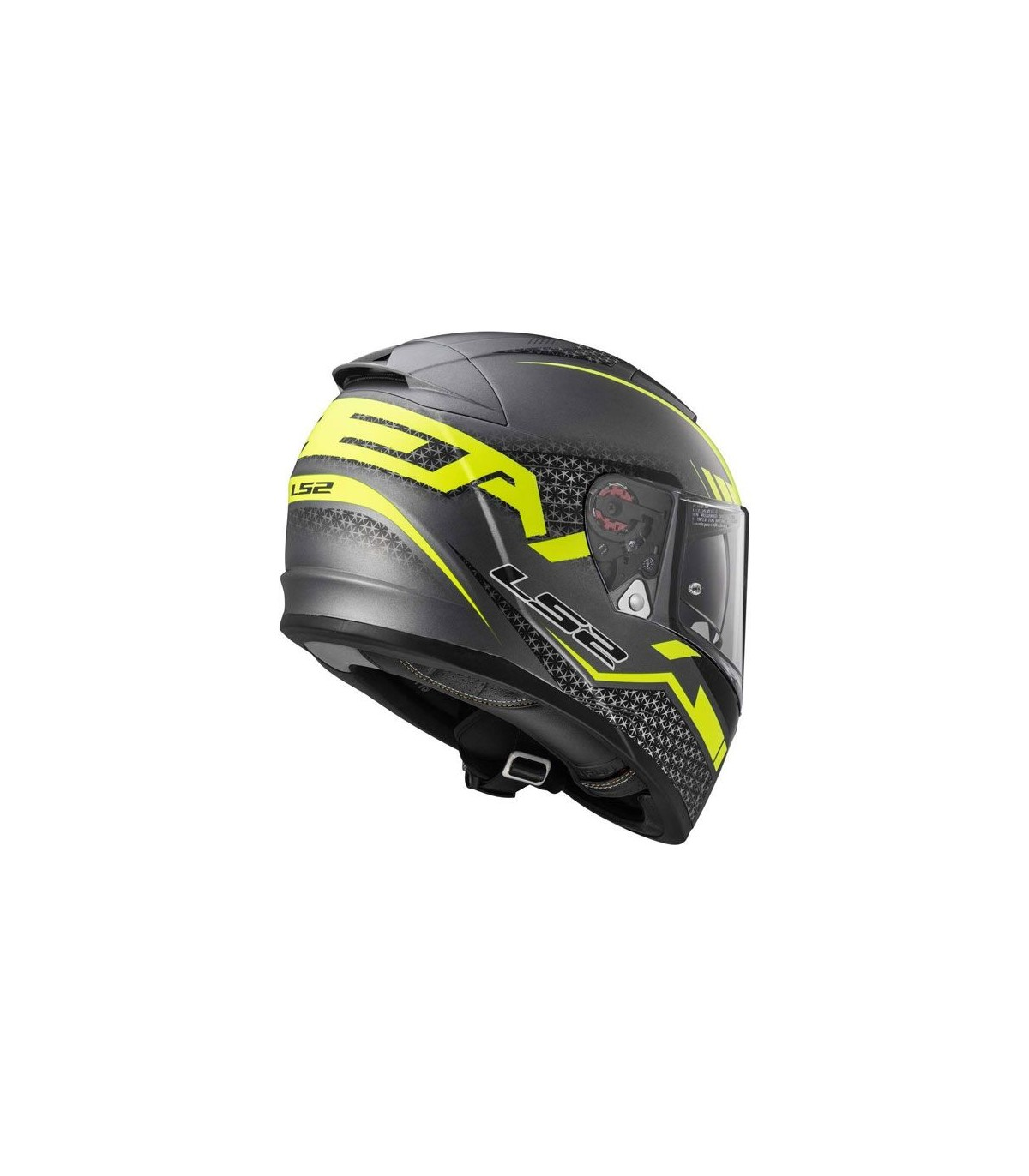 Helmet LS2 390 BREAKER (SPLIT Matt Titanium H-V Yellow)