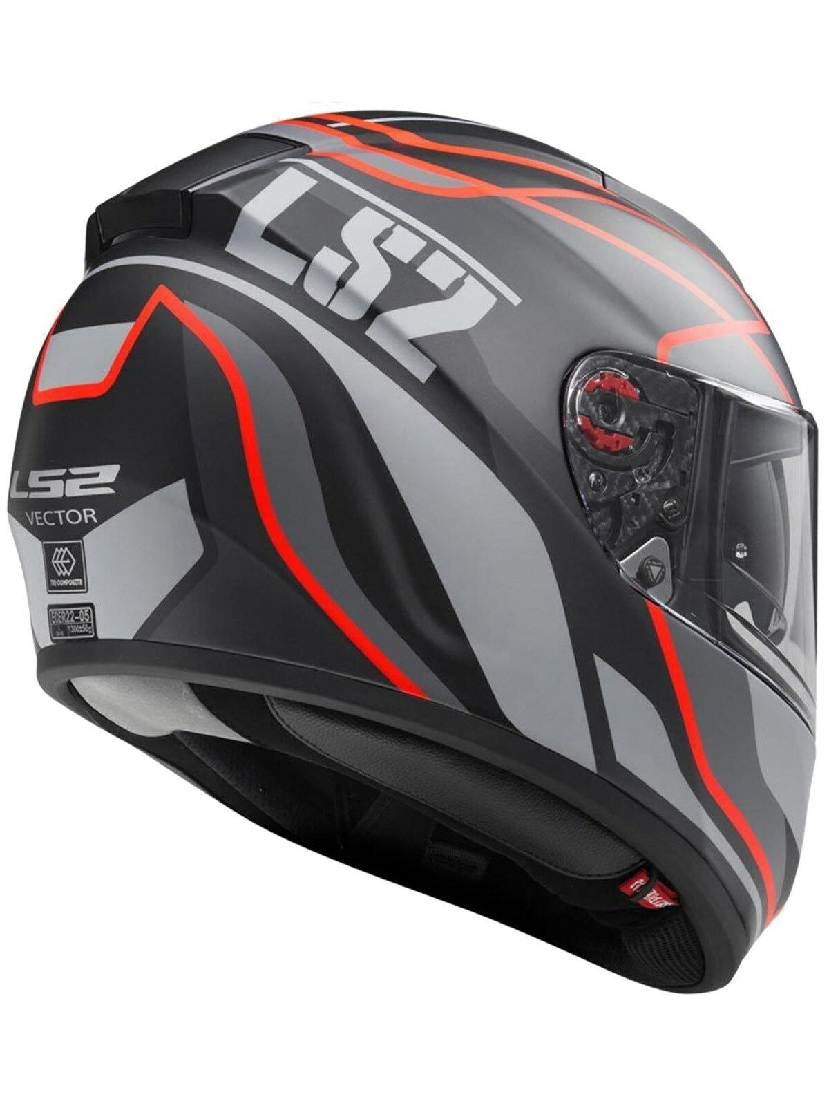 Helmet LS2 397 VECTOR (VANTAGE Matt Black Red)