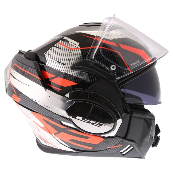 Helmet LS2 399 VALIANT (ROBOTO Black Orange Chrome)