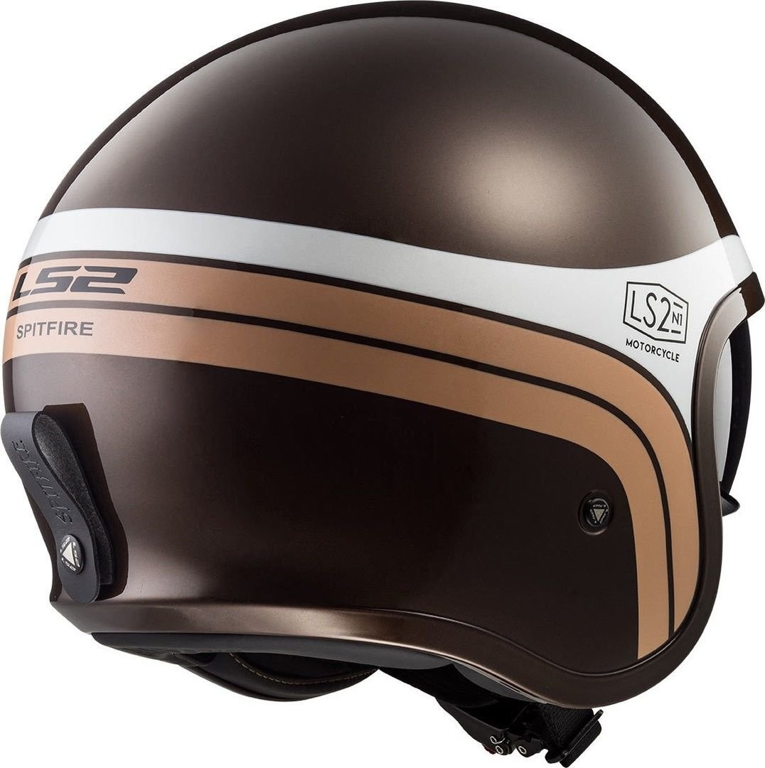 Helmet LS2 599 SPITFIRE (SUNRISE Brown White)