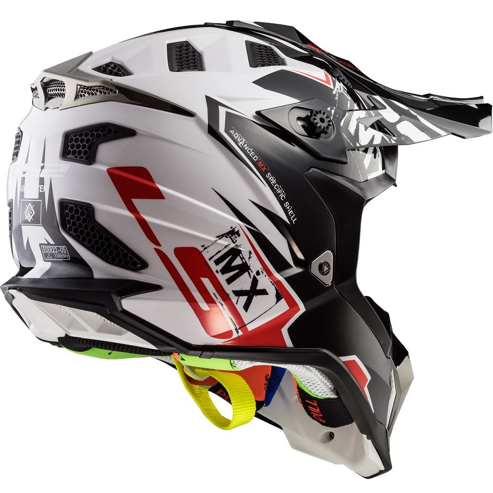 Helmet LS2 MX 437 SUBVERTER (EMPEROR Black White Red)