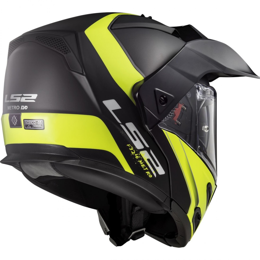 Helmet LS2 324 METRO (RAPID Matt Black H-V Yellow)