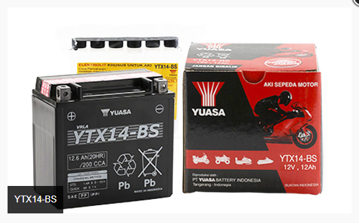 Battery 12YTX14 Yuasa Indonessia