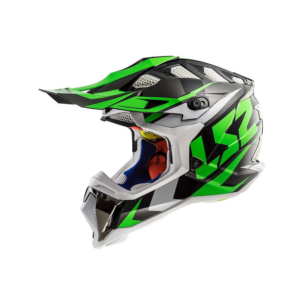 Helmet LS2 MX 437 SUBVERTER (NIMBLE Black White Green)