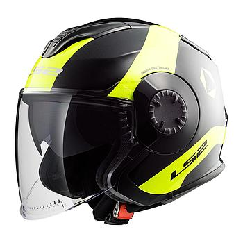 Helmet LS2 570 VERSO (TECHNIK Black H-V Yellow)